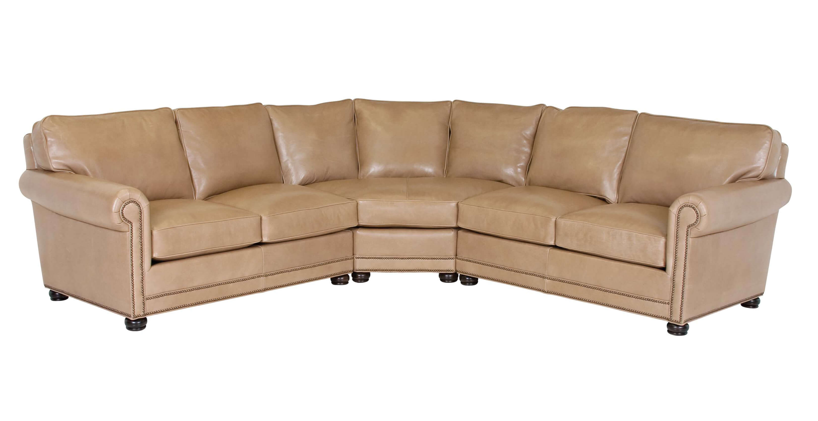 Classic Leather Larsen Straight Back Sectional