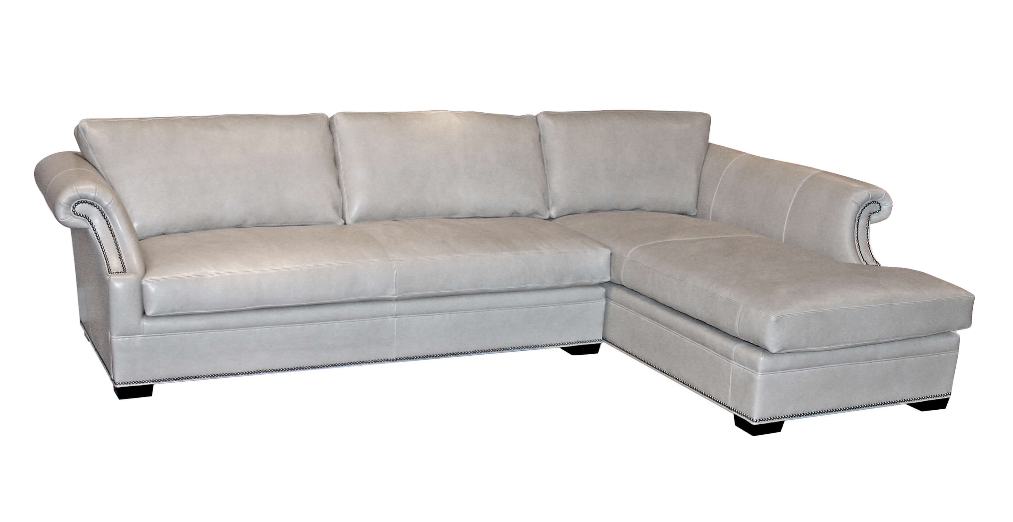 classic leather cardiff sectional. Black Bedroom Furniture Sets. Home Design Ideas